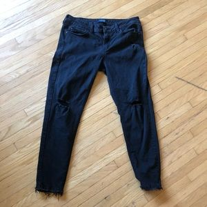 JUST USA STRETCH CROP DISTRESSED JEANS